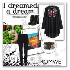 """Romwe"" by ermina-camdzic ❤ liked on Polyvore featuring iCanvas, WithChic and romwe"