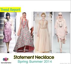 Statement #Necklace Jewellery Trend for Spring Summer 2014  #spring2014 #trends #Jewelry #pink