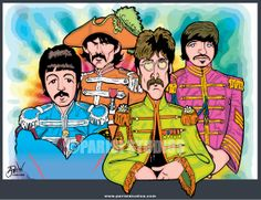 PARISI STUDIOS is the company behind the limited edition art prints of your favorite Classic Rock Bands and Pop Culture Icons. All prints are numbered, dated and signed by the award-winning illustrator Anthony Parisi. The Beatles 1, Beatles Art, Beatles Photos, Classic Rock Bands, Sgt Pepper, Lonely Heart, The Fab Four, Fine Art Photo, Album