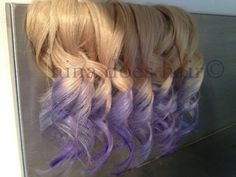 lilac ombre blond extentions