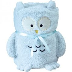 GoTravel baby travel comfort blanket blue owl animal design - A plush lightweight travel blanket to keep your child snug and warm when travelling. Folds up in to a funky animal toy. £9.99