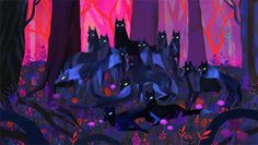 Wolves - by Juliette Oberndorfer
