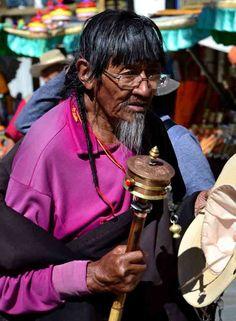 Devout Buddhists in Tibet