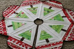 Quilted Tree Skirts Admired -- If taking on a full blown quilt (or quilt size project) seems like too much before the holidays, then maybe a tree skirt is more manageable.