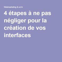 4 étapes à ne pas négliger pour la création de vos interfaces