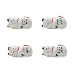 Set Von 4 Japanischen Keramik Lucky Cat Shaped Stäbchen Löffel Gabeln Halter - http://besteckkaufen.com/blancho/set-von-4-japanischen-keramik-lucky-cat-shaped-st-l-6