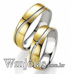 Alianças bodas de prata Aliança Prata E Ouro, Alianças De Ouro, Aliança  Bodas De 4010b8313c
