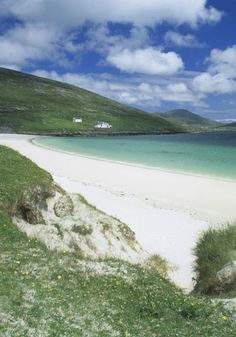 Isle of Barra, Scotland White sandy beaches and beautiful scenery typify the Isles of Barra and Vatersay in the Outer Hebrides. On a lovely sunny day there are few better places to be, and a hike up Heaval hill will be rewarded with unbeatable views of the island's amazing stretches of wildflower-backed beaches. The picturesque Kisimul Castle, located just offshore at Castlebay, is worth a look too.