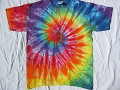 Tie Dye Rainbow Spiral Shirt Size Lg Youth by EarlyLightDyes, $15.00