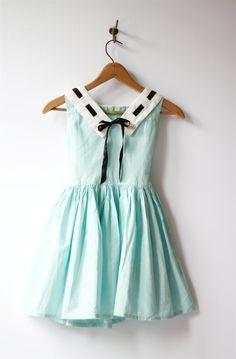 mint 1950s girls dress