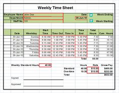 Printable Pdf Timesheets For Employees Printable Weekly Employee