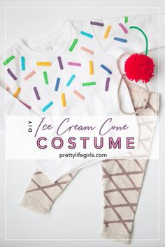 DIY Ice Cream Cone Costume! Easy  Halloween girls or baby costume | The Pretty Life Girls | #plaidcreators #diyhalloweencostume #icecreamcostume #diyhalloween #diycostumes