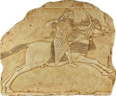 .:. Assyrian Hunting Wall Relief, Ashurbanipal Palace, Nineveh, Mesopotamian art reproduction, can now be found in the British Museum, King Ashurbanipal