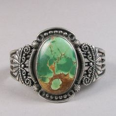 vintage turquoise and silver bracelet