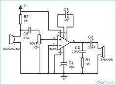 Led Flashlight Circuit Diagram | Bc547 Based Led Music Light Circuit Diagram Electronics In 2019