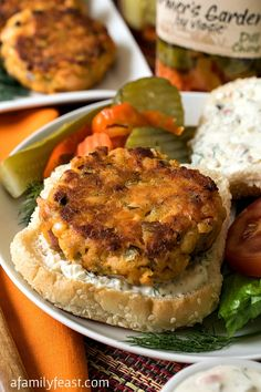 Zesty Salmon Burgers with Dill Spread and $1500 Savor Simplicity Sweepstakes #FarmtoJar @Vlasic