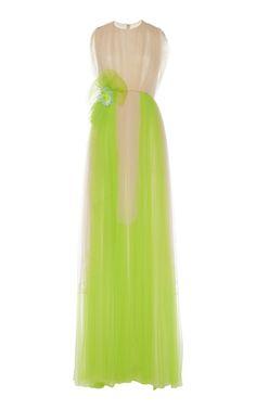 Crew Neck Tulle Gown by DELPOZO for Preorder on Moda Operandi