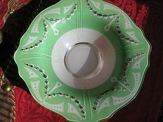Vintage Art Deco Indiana cased green bowl*