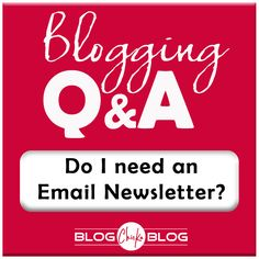 Why you should absolutely, 100% make an Email Newsletter your top priority TODAY! | Blogging Tips | Follow my Blogging Boards at www.pinterest.com/jilllevenhagen