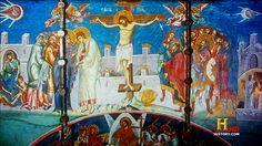 OVNIS en el arte: La Crucifixion (1350) - Visoki Decani