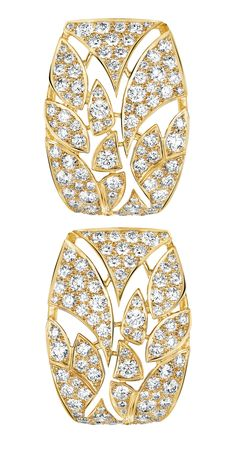 earrings in 18K yellow gold set with diamonds