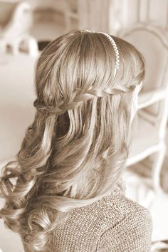 Waterfall braid with loose curls - Essex wedding Beauty