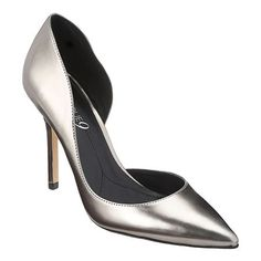 "As seen in the March issues of InStyle and People Style Watch.... Boutique 9 all leather upper pointy toe d'Orsay pump with 4"" heel."