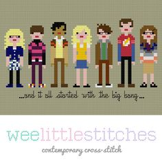 The Big Bang Theory Cross-Stitch Pattern
