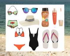 Summer is definitely here! Are you excited to go to the beach and experience summer fun? Beach Essentials, Summer Fun, Beach Fashion, Outfits, Polyvore, Life, Women, Beach, Accessories
