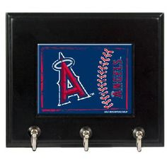 Los Angeles Angels MLB Wood Keyhook Rack - FREE SHIPPING $35.00