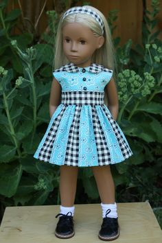 Sewing Doll Clothes, Girl Doll Clothes, Sewing Coat, Dress Sewing, Girl Dolls, American Girl Dress, American Doll Clothes, Kids Dress Patterns, Skirt Patterns