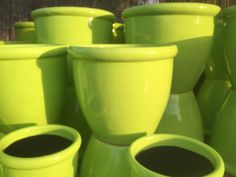 Lime Green Planters from Potsonline Australia  #wholesalepots
