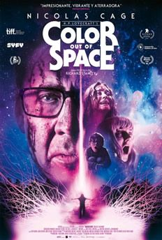 Color Out of Space (2020) Nicolas Cage, Color Out Of Space, Dark Father, Joely Richardson, Space Movies, Sci Fi Horror, France, Poetry Books, Feature Film