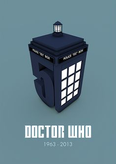 50 Years of Doctor Who by Benjamin Parker, via Behance