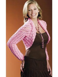 Crochet Cotton Candy II Bolero - One size fits most - Sport Weight [2] Yarn