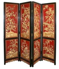 Beautiful chinese folding screen.