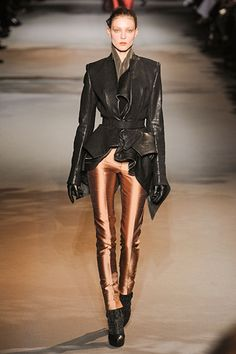 Haider Ackermann »  Fall 2012 RTW » these pants, this jacket. Haider ackermann takes it to a whole nother level.