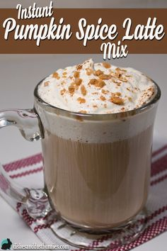 1 ¼ cups French Vanilla Powdered drink mix (I used Maxwell House International Cafe French Vanilla ½ cups instant espresso ¼ cups powdered coffee Tbsps + ¼ tsp Pumpkin tsp ¼ cups sugarOptional Topping Ingredient Pumpkin Spice Creamer, Pumpkin Spiced Latte Recipe, Pumpkin Spice Coffee, Spiced Coffee, Coffee Creamer, Pumpkin Recipes, Fall Recipes, Spiced Tea Mix Recipe, Cappuccino Mix Recipe