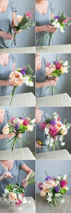 This floral DIY will help you create the best mixed spring bouquet ever! I love how easy and useful this guide is! This floral DIY will help you create the best mixed spring bouquet ever! I love how easy and useful this guide is! Arte Floral, Deco Floral, Floral Wedding, Diy Wedding, Wedding Bouquets, Wedding Flowers, Movie Wedding, Wedding Ideas, Wedding Songs