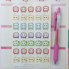 Never miss your favorite show with the help of these little TVs! These little cuties fit perfect in your Erin Condren planner or anywhere else