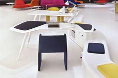 Oficina creativa Beta diseñado por Pierandrei Associati. (Espacio Aretha agente exclusivo para España).