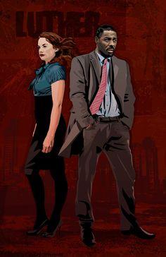 Luther John Luther & Alice Morgan 17 x 11 Digital Luther Bbc, Detective, Graffiti Bridge, Star Trek Ii, Ruth Wilson, British Humor, His Dark Materials, Idris Elba, Actor