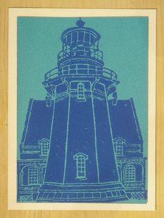 Southeast Lighthouse Card from Trims Pond Studio, Block Island, RI.