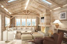 Living room  - Résidences de Rougemont - By Plusdesign, architects Claudia Sigismondi & Andrea Proto
