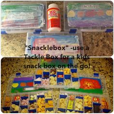 Snacklebox~ Travel Snack Box For Kids. Have your child paint the top and seal with Mod Podge!