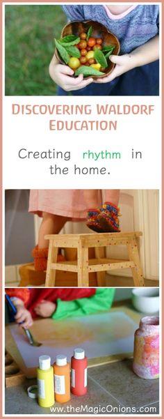 Discovering Waldorf – 'Rhythm in the Home' – Montessori & Steiner Waldorf Preschool, Waldorf Curriculum, Waldorf Kindergarten, Waldorf Education, Waldorf Toys, Kids Education, Steiner Waldorf, Primary Education, Science Education