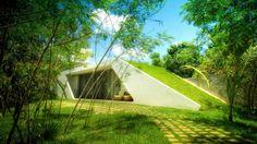 Vista Acceso Principal: Casas de estilo moderno por sanzpont [arquitectura]