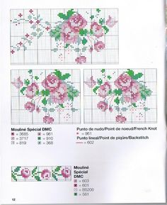 This Pin was discovered by Sev Cross Stitch Rose, Cross Stitch Borders, Cross Stitch Flowers, Cross Stitch Charts, Cross Stitching, Cross Stitch Patterns, Rosa Shabby Chic, Vintage Cross Stitches, Embroidery Stitches