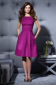 satin cocktail dress in Persian plum