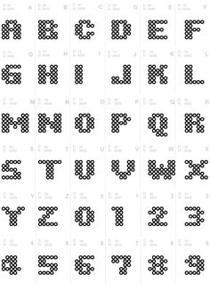 Iron Beads Font Source by You might believe the annals of handcrafted beaded jewelry cannot po Perler Bead Designs, Easy Perler Bead Patterns, Melty Bead Patterns, Perler Bead Templates, Hama Beads Design, Diy Perler Beads, Perler Bead Art, Pearler Beads, Fuse Beads